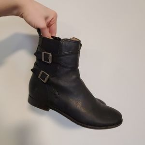 Genuine Black Leather Frye Ankle Boots